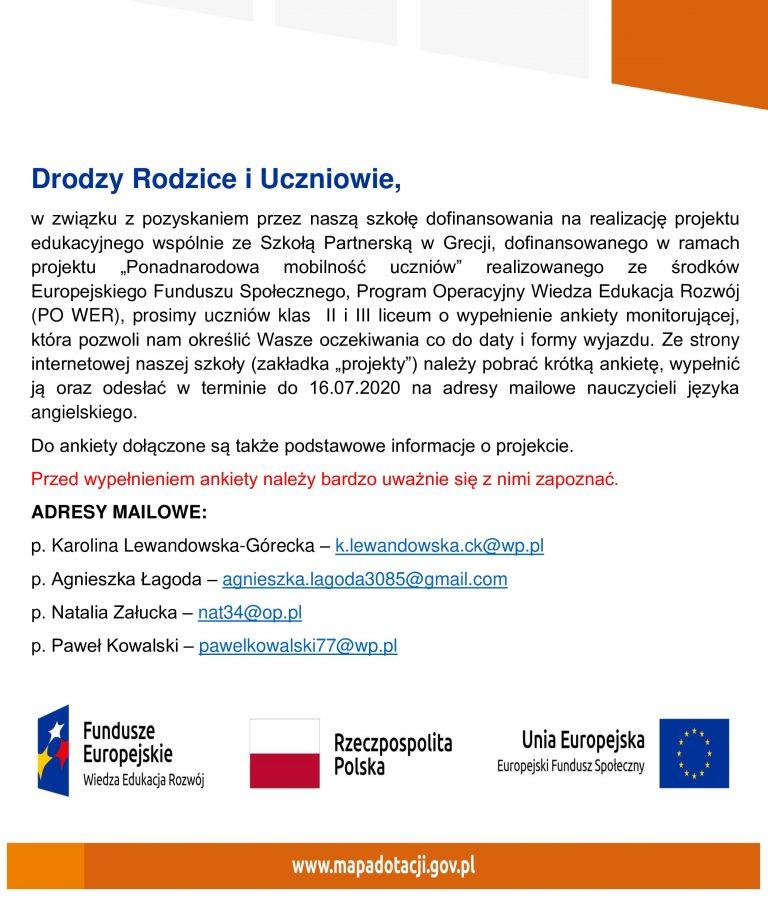 FE POWER Europejski Fundusz Spoleczny