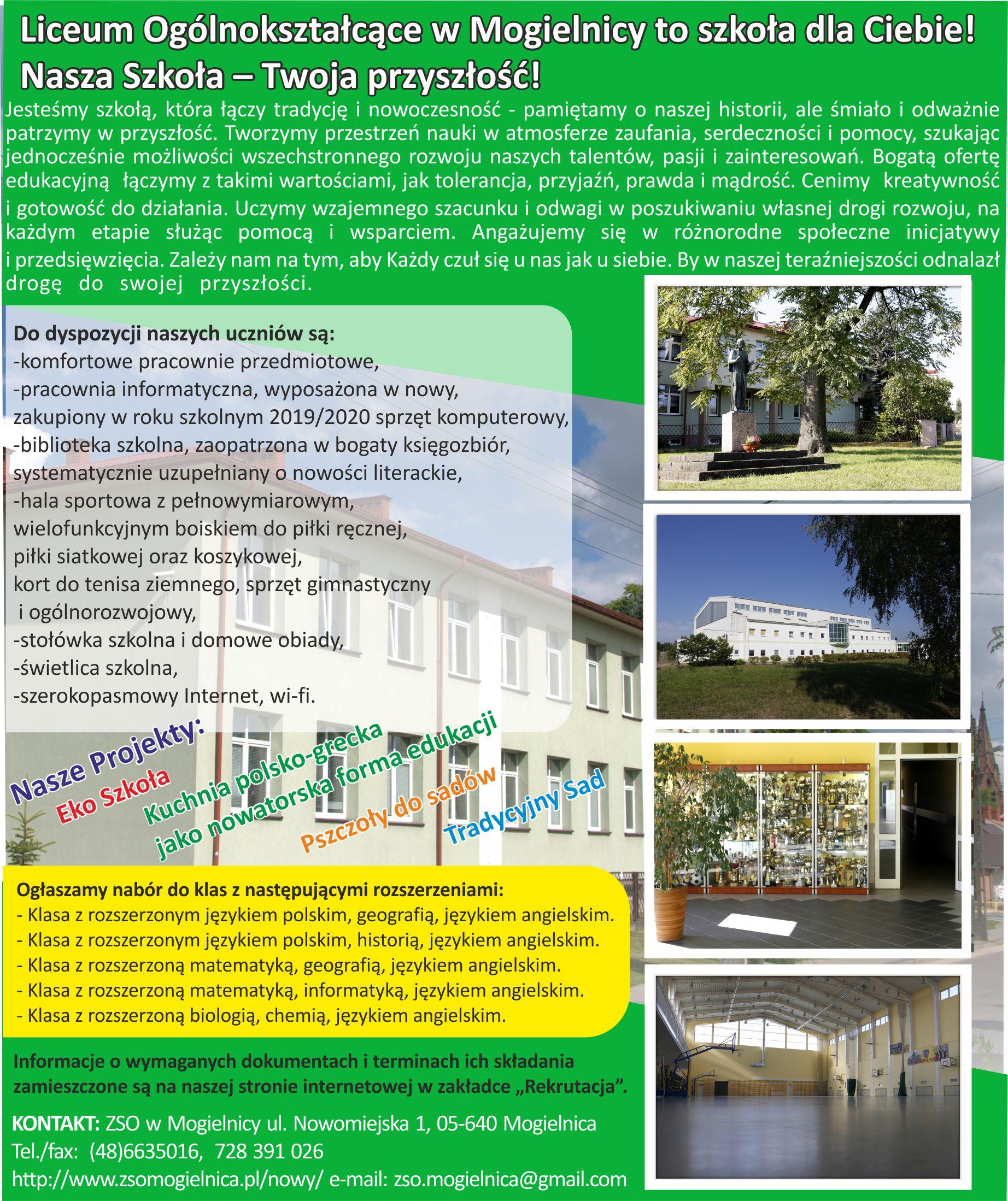 Liceum Ogólnokształcące w Mogielnicy to szkoła dla Ciebie! Nasza Szkoła-Twoja Przyszłość!